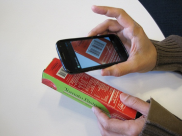 BLaDE (Barcode Localization and Decoding Engine) smartphone app in action